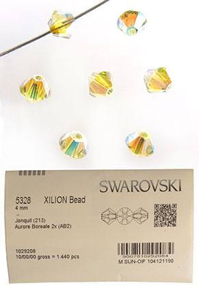 www.sayila.fr - SWAROVSKI ELEMENTS perle 5328 Xilion Bead toupie 4mm