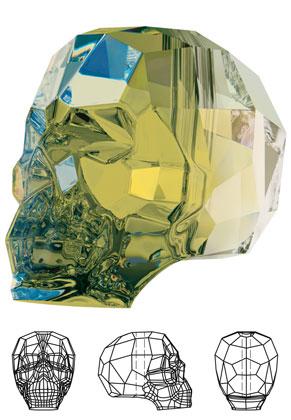 www.sayila.nl - SWAROVSKI ELEMENTS kraal 5750 Skull Bead schedel 15x13mm