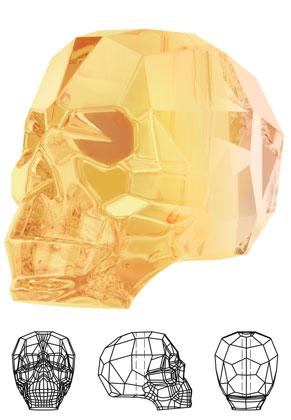 www.sayila.fr - SWAROVSKI ELEMENTS perle 5750 Skull Bead crâne 15x13mm