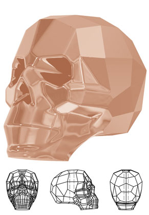 www.sayila-perlen.de - SWAROVSKI ELEMENTS Perle 5750 Skull Bead Schädel 15x13mm