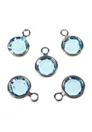 www.sayila.com - SWAROVSKI ELEMENTS Round Channel Charm pendant 157700 10x7mm - SW2818