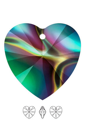 www.sayila.nl - SWAROVSKI ELEMENTS hanger/bedel 6228 XILION Heart Pendant hartje 18x17,5mm