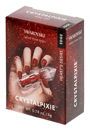 www.sayila.nl - SWAROVSKI ELEMENTS nail art CRYSTALPIXIE Edge Heart's Desire