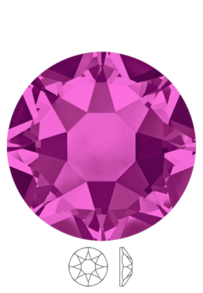 www.sayila.nl - SWAROVSKI ELEMENTS plakstenen 2078 Xirius Rose Hotfix rond SS34 7,1mm