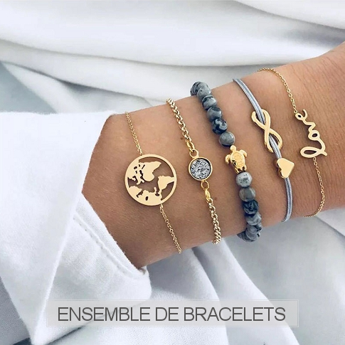 www.sayila-perles.be - Ensemble de bracelets