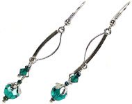 www.sayila.be - Sayila Mini Project Emerald Earhooks