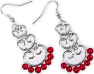 www.sayila-perles.be - Sayila Mini-Projet Red coral earhooks