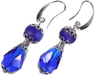 www.sayila-perles.be - Sayila Mini-Projet Cobalt Earhooks