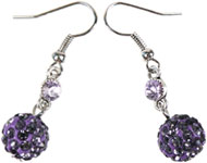 www.sayila.co.uk - Sayila Mini Project Lilac Strass Earhooks