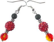 www.sayila-perlen.de - Sayila Mini-Projekt Fiery Red Earhooks
