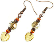 www.sayila.com - Sayila Jewelry Project Autumn Earrings