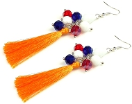 www.sayila-perles.be - Sayila Projet Bijoux Earrings Colorful Flags