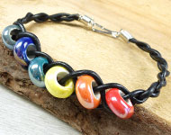 www.sayila.nl - Sayila Sieradenproject Ceramic Bead Bracelet