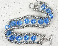 www.sayila.nl - Sayila Sieradenproject Blue Ball chain Bracelet