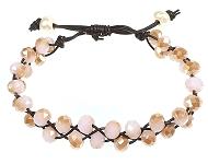 www.sayila.nl - Sayila Sieradenproject Pink Braided Bracelet