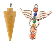 www.sayila.com - New Rainbow Chakra and natural stone pendants