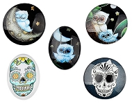 www.sayila.com - New cabochons and feathers