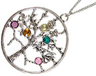 www.sayila.nl - Sayila Sieradenproject Charm Tree Necklace