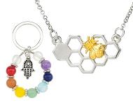 www.sayila-perlen.de - Neue Trend Halsketten und Rainbow Chakra Schmuck