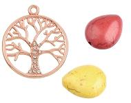 www.sayila-perlen.de - Neue Anhänger mit Bäumen und Naturstein Perlen