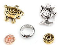 www.sayila.com - New metal spacer beads and charms