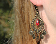 www.sayila-perlen.de - Sayila Schmuckprojekt Coin Earrings