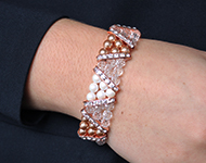www.sayila.nl - Sayila Sieradenproject Rose gold & Crystal Bracelet