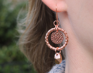 www.sayila-perlen.de - Sayila Schmuckprojekt Rose gold Earrings
