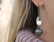 www.sayila.nl - Sayila Sieradenproject Black & Crystal Earrings