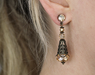 www.sayila-perlen.de - Sayila Schmuckprojekt Filigree Earrings
