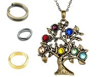 www.sayila-perlen.de - Neue Ringe und Halsketten mit Baum