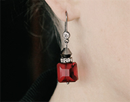 www.sayila.nl - Sayila Sieradenproject Crystal Square Earrings