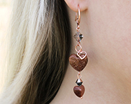 www.sayila-perlen.de - Sayila Schmuckprojekt Natural Heart Earrings