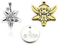 www.sayila.co.uk - New charms and 925 silver pinch bails for pendants