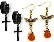 www.sayila.co.uk - New stainless steel earrings and with bees