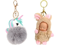www.sayila.co.uk - New fluffy key fobs