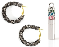 www.sayila.co.uk - New earrings with strass and natural stone