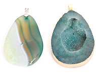 www.sayila.co.uk - New colourful natural stone pendants and pompons