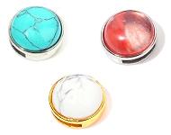 www.sayila-perles.be - Nouveaux perles coulissantes avec pierres naturelles